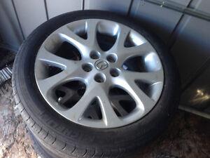 235 45r 18 Michelin tires on Mazda rims