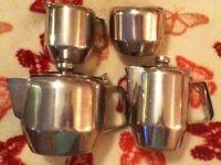 Stainless Steel 4 Piece Tea Set
