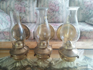 Three hurrucane lamps