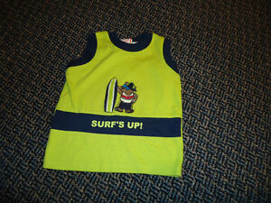 Boys Size 12 Months Surfing Bear Tank Top