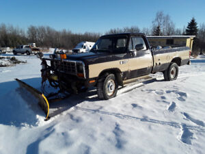 1983 Dodge 3/4 Ton Power Ram C/W Meyer Snow Plow!