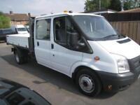 Ford Transit 2.2TDCi ( 125PS ) DOUBLE CAB ALLOY DROPSIDE TIPPER ONE OWNER