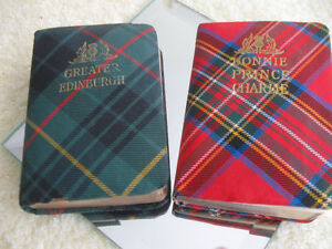 "2 OLD VINTAGE ""THISTLE LIBRARY"" MINI-SIZED SCOTTISH BOOKS"