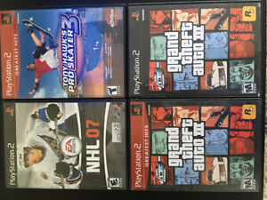 Lot jeux play station 2 ps2 games lot