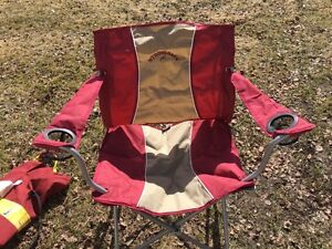 Like new strongback folding camping chair with bag!!