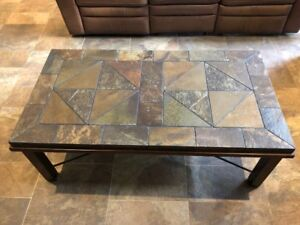 Slate Top Coffee Table, End Table, & Behind the Couch Table