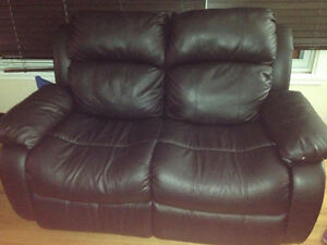 Black Recliner Love Seat