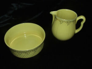 Vintage 1950's Hall USA Pitcher and Round Dish