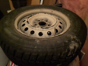 4 winter tires on rims for Mitsubishi outlander  like new