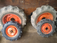 Kubota tractor tires and rims