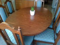 Large (expandable) Dining Table and 6 chairs
