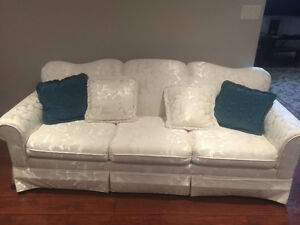 Custom made white couches for sale