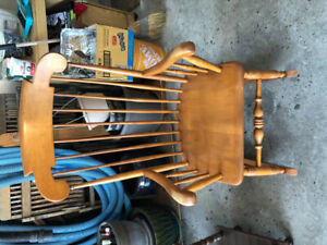 Beautiful wood rocking chair