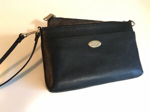 COACH Polished Pebbled Leather Clutch