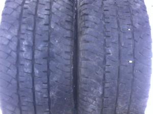 4x LT 265-70-18, Michelin LTX AT/2, 70% tread.