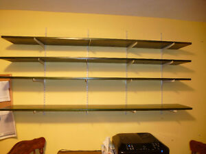 4 Large shelves with brackets 69inches long