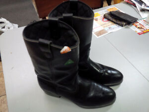 Bottes moto en cuir THINSULATE Black Leather Motorcycle Boots