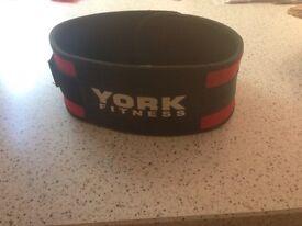 York weight lifting belt