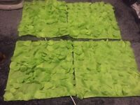 Lime green cushion covers