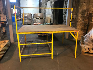 Large Steel/Wood Work Table