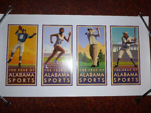 Year of Alabama Sports Posters