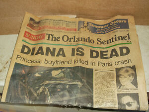 Princess Diana newspaper