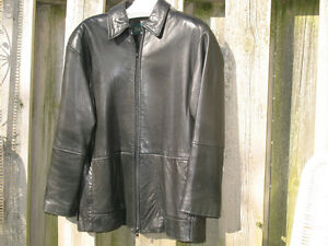Modern Danier Black Lambskin 3/4 length zipper Jacket London Ontario image 1