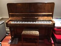 Piano and footstool