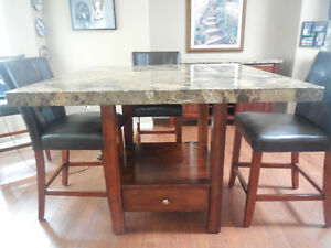 Dining room set with wine rack server