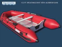 15 FT INFLATABLE BOAT WITH  REINFORCED ALUMINUM FLOOR