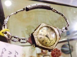 Antique ladies wrist watch W G F Victoria works