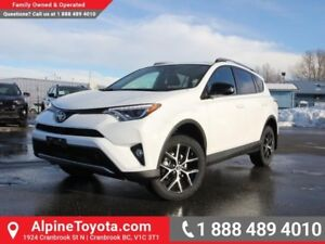 2018 Toyota RAV4 AWD SE  Sunroof - AWD - Nav - Heated Seats
