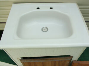 Vanity with F/G Sink & Chrome Tap