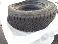 4 tires with rims 195/65/15 Goodyear ultra grip that are bal and