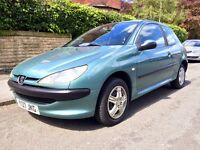 2001 Peugeot 206 LX 1.4 ONLY 62K Miles Drives Superb Full MOT