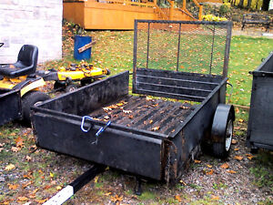 4x6 trailer with ramp for lawn tractor sled ext or trade