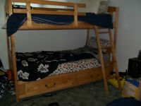 Solid Wood Bunkbed Set