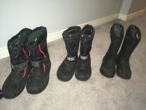 Boys Sorel  Winter Boots  Size 12 and 1 -Bogs sold