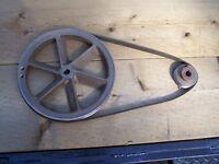 Compressor flywheel, belt, & pulley