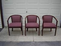 3 CHAIRS WITH WOODEN LEGS(OFFICE CHAIRS)/NEW PRICE!