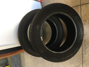 All Season Continental Tires For Sale, Size 235-55-17, 90% New
