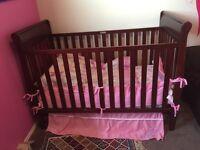 """LIKE NEW"" Crib, Mattress & Bedding"