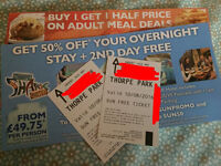 Thorpe Park Tickets 10th August