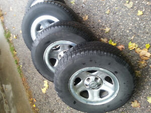 Tires on rims from Jeep TJ Kitchener / Waterloo Kitchener Area image 1