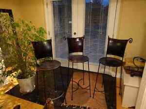 Three Gorgeous Genuine Leather Bar Stools London Ontario image 1