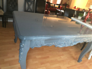 Beautiful Unique Light Grey Dining Room Table