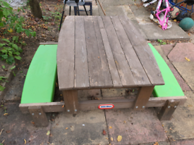 Garden bench sandpit