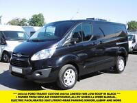 2014 FORD TRANSIT CUSTOM 290/125 LIMITED SWB IN BLACK WITH 64.000 MILES,AIR COND
