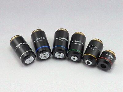 Rms Thread 4x 10x 20x 40x 60x 100x Infinity Objective Lens F Olympus Microscope