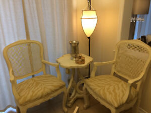 Brand New Two Antique Look Gorgeous French Provincial Armchairs